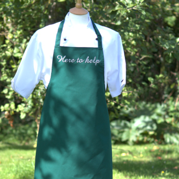 Personalised Apron Embroidered Dark Green Apron