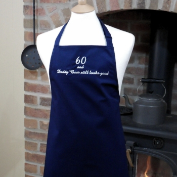 Personalised Apron in Navy - Custom Embroidered