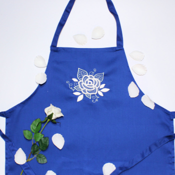 Gorgeous Rose Embroidered Apron