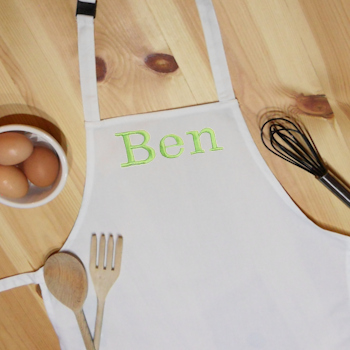 Personalised Childrens Apron Kids White Apron