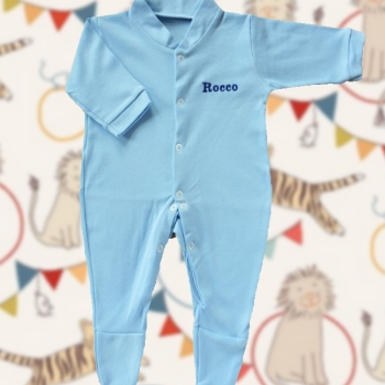 Personalised Sleepsuit Baby Blue Babygrows