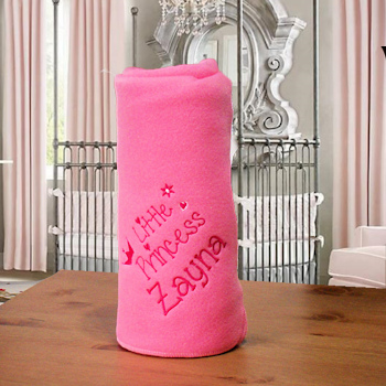 Personalised Baby Blanket Little Princess Wrap Candy Pink