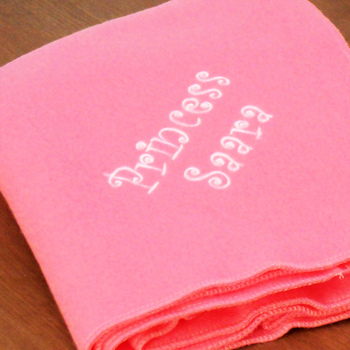 Pink Fleece Blanket Handmade Candy Pink Throw