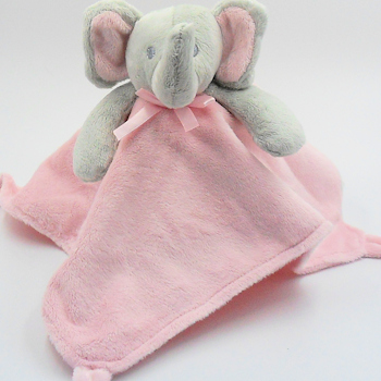 Baby Girl Taggy Blanket