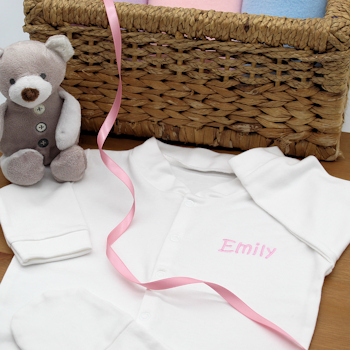 Baby Sleepsuit Personalised White Babygrows