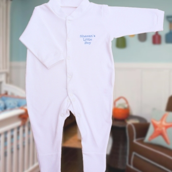 Baby Sleepsuit Personalised Name Embroidered BabyGrow