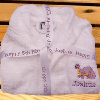 Childs Bathrobe Embroidered Personalised Robe