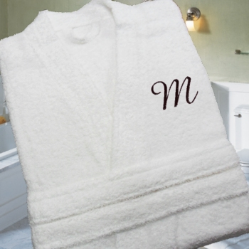 Personalised Bathrobe White Terry Robe