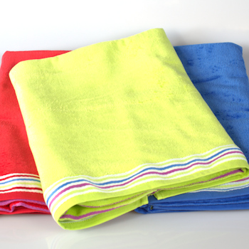 Beach Towel<br>Personalised Lime Velour Swim Towel