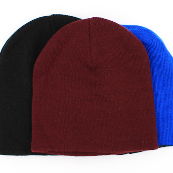 Personalised Hat Embroidered Burgundy Stretch Beanie