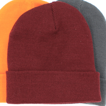 Personalised Beanie Hat Burgundy Cuffed Hat