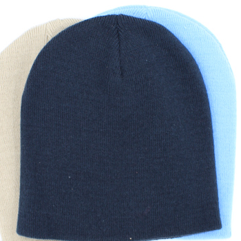 Personalised Beanie Embroidered Stretch Hat Navy Blue