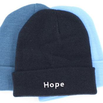 Personalised Beanie Hat French Navy Cuffed Hat