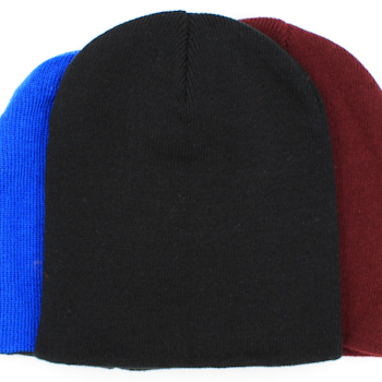 Personalised Beanie Hat Embroidered Black Stretch Hat