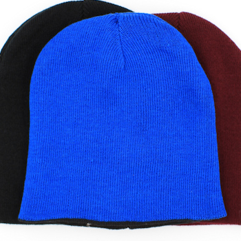 Personalised Hat Embroidered Royal Blue Stretch Beanie