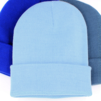a01dadfd35a7b Keep your head nice and warm with a classic sky blue winter stretch knit  beanie hat with personalised embroidery of your choice.