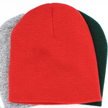Personalised Winter Hat Red Knit Beanie Cap