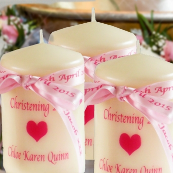Christening Candle Personalised Candle