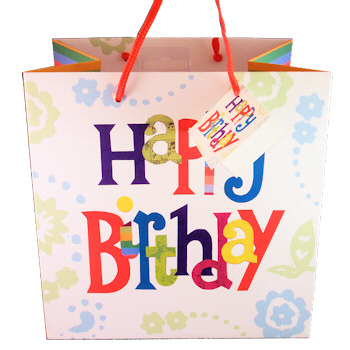 Gift Bag Medium Happy Birthday Bag Cards & Wrap