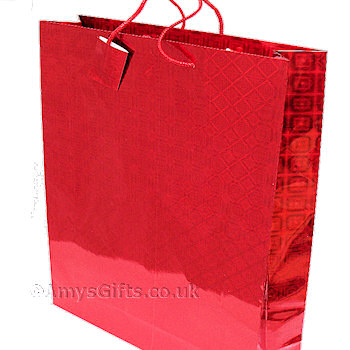 Gift Bags Red Holographic Gift Bag