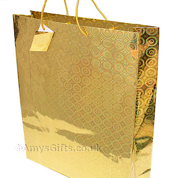 Gift Bag Gold Holographic Gift Bag