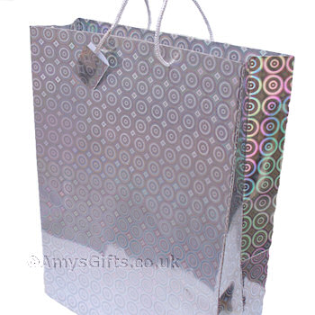 Silver Holographic Gift Bag