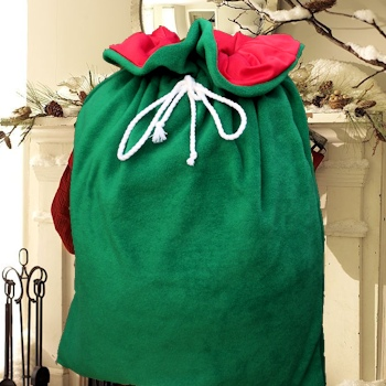 Santa Sack Green Christmas Sack