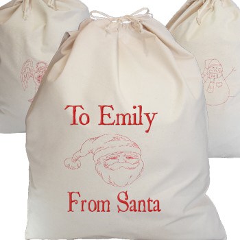 Giant Santa Sack Personalised Canvas Sack Father Christmas