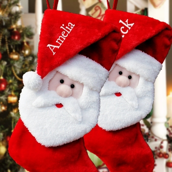 Personalised Stockings Santa in a Hat Stocking
