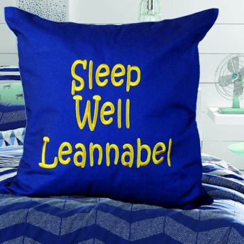 Personalised Cushions Royal Blue Message Cushion