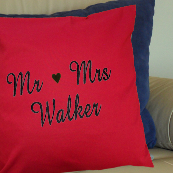 Embroidered Throw Cushion