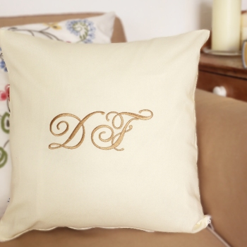Monogrammed Cushions Embroidered Initial Cushion