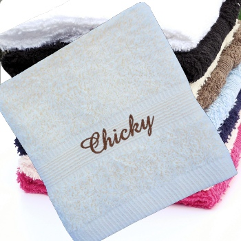 Personalised Flannel Cream Embroidered Face Cloth