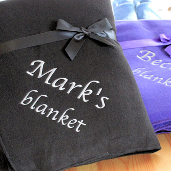 Black Blanket Personalised Fleece Throw