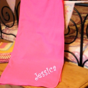 Personalised Pink Blanket Candy Pink Fleece Throw