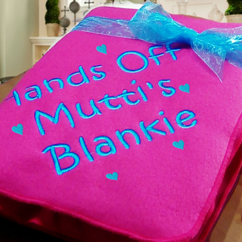 Personalised Blankets Fleece Blanket Throw Scatter Hearts