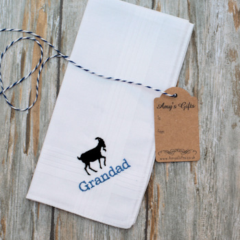 Personalised Handkerchief<br>Animal Silhouette Motif