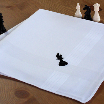 Chess Handkerchief Gift Bishop Hanky