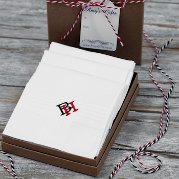 Custom Monogram Handkerchiefs Personalised Combined Initials