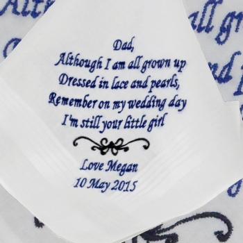 Wedding Handkerchief Father of the Bride Poem