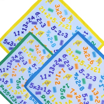 Childrens Handkerchiefs Maths Numbers Kids Hankies
