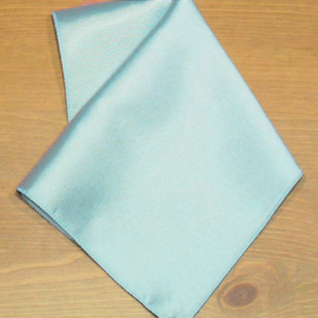Light Blue Pocket Square Personalised Satin Hankderchief
