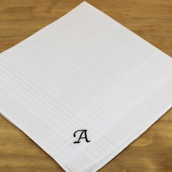 Monogram Handkerchiefs Initialled Mens Hankies Set