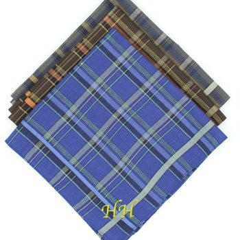 Mens Check Handkerchief Coloured Hanky Set