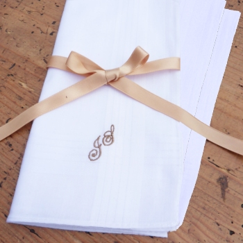 Personalised Handkerchiefs Gift Set of 3