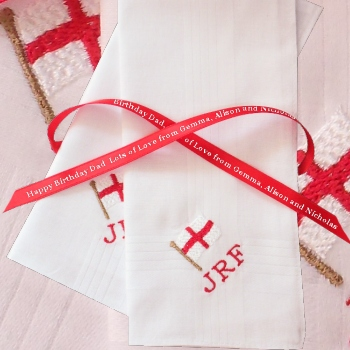 England Handkerchief St George Flag Personalised Hanky