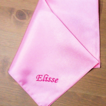 Pocket Square Personalised Pink Satin Handkerchief
