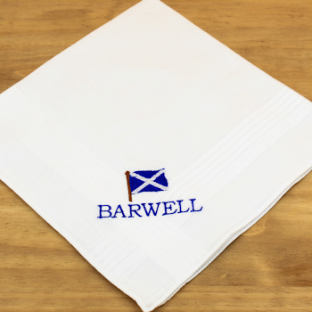 Scotland Handkerchiefs Personalised Handkerchief Gift Set - Scotland Scottish Saltire