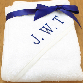 Baby Boys Towel Personalised Hooded Towel