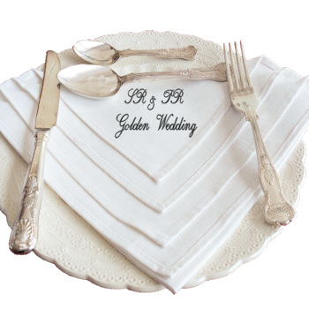 Linen Dinner Napkin Message Embroidered Napkin